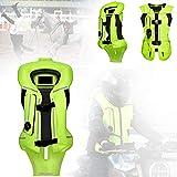 ZZJCY Chaleco Airbag Motocicleta para Uso Larga Distancia, Ropa Seguridad Reflectante Moto Noche, Expandir En 2 Segundos, Fácil Usar Y Extraíble, para Ride Motocross, Equitación, Esquí,XL