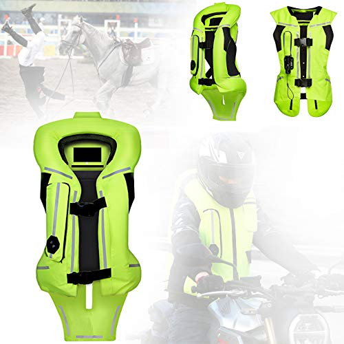 ZZJCY Chaleco Airbag Motocicleta para Uso Larga Distancia, Ropa Seguridad Reflectante Moto Noche, Expandir En 2 Segundos, Fácil Usar Y Extraíble, para Ride Motocross, Equitación, Esquí,S