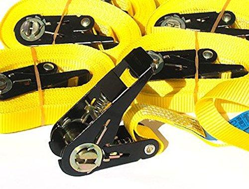 iapyx® 3 Stück Zurrgurt Spanngurt 800 kg 6m 6 Meter EN-Norm Farbe gelb