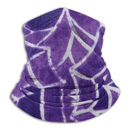 Tour de Cou Cagoule Microfibre Chapeaux Tube Masque Visage, Halloween Spider Purple Web Fleece Neck Warmer - Reversible Neck Gaiter Tube, Versatility Ear Warmer Headband & For Men And Women