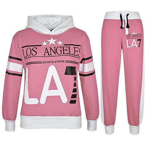A2Z 4 Kids Kinder Mädchen Trainingsanzug LOS Angeles LA7 Aufdruck - T.S LA7 Baby Pink 5-6