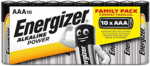 Energizer - Pack de 10 pilas alcalinas Alkaline Power LR03 AAA, family pack