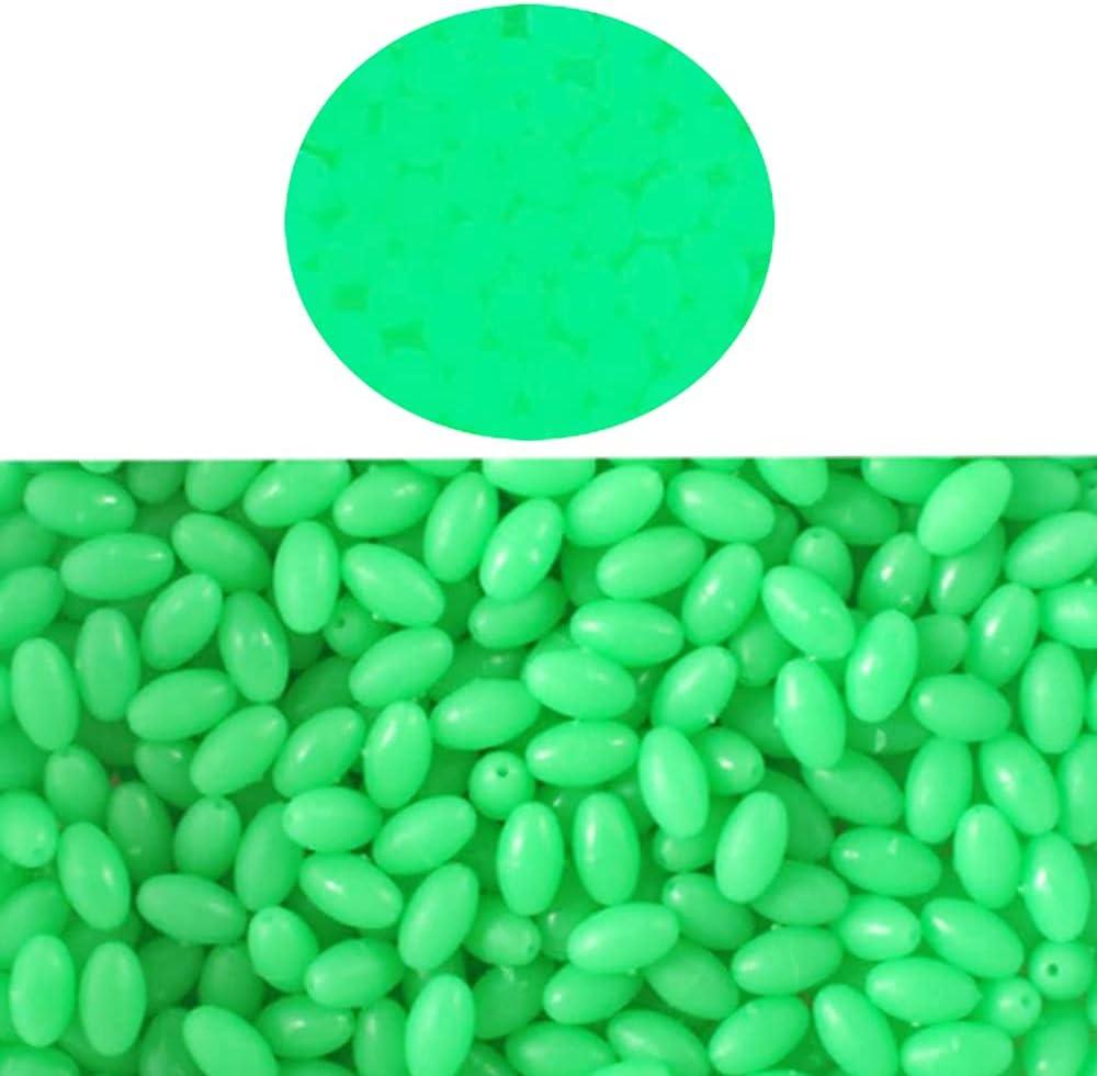 N\\A 1000pcs Max 74% OFF lot Green Glow Eggs Plastic Beads Luminous Now free shipping Fishing