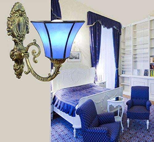 Méditerranée verre bleu mur lampe allée allumer la salle de séjour lampe de mur de la chambre simple tête balcon lampe porche escalier