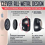 Universal Car Phone Mount Magnetic – All-Metal iPhone Car Mount for Any Smartphone or GPS – Truly One-Handed Cell Phone Holder for Car Dashboard