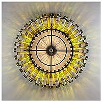 円形レトロウォールライトクリエイティブワインボトルウォール壁取り付け用燭台LED32ライトウォールランプレストランバーホテルコーヒーショップ装飾用-光源が含まれています