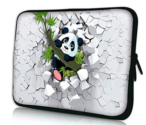 Funky Planet Schutzhülle für Apple MacBook Air Pro Dell Lenovo Samsung Asus Computer Tablet oder iPad mehrfarbig panda 13