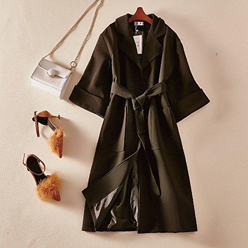 KYH Chaqueta Cortavientos Jersey Casaca Suéter De Lana Coat Coat,F,Negro