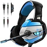 ONIKUMA Casque Gaming, Casque PS4 Xbox One PC Casque Gamer Son 7.1 Surround + Isolation + Fortes Basses, Microphone Anti Bruit...