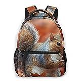 Nongmei Sac à dos pour ordinateur portable de voyage,écureuil automne feuilles sèches écrou faune animale,sac à dos antivol résistant à l'eau d'affaires mince et durable