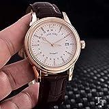 クラシック腕時計メンズローズゴールドシルバーホワイト自動機械式904 lステンレス鋼Eta 2824ムーブメントブラックレザー時計ゴールドホワイト