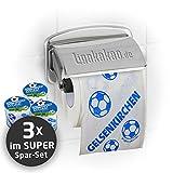 Klopapier Schalker Abpfiff (3 Rollen XL-Sparpack)  Dieses Toilettenpapier Macht das Klo von Dortmund-, Bayern- & Fußball-Fans zur Schalke-Kultschüssel   Geschenkidee für Männer & Freunde