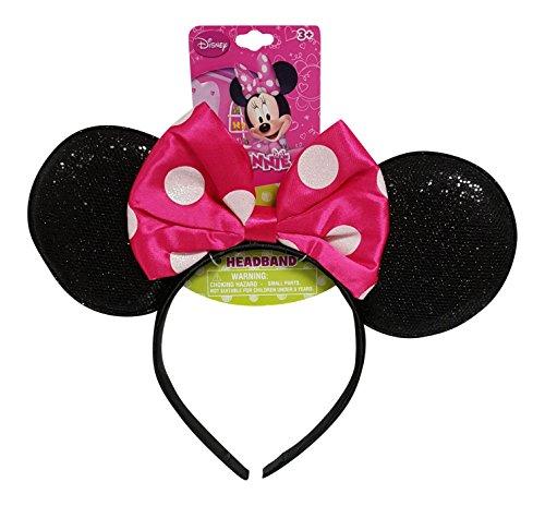 UPD - Diadema con Orejas de Minnie Mouse con diseño de Lazo Rosa Caliente (1 Unidad)