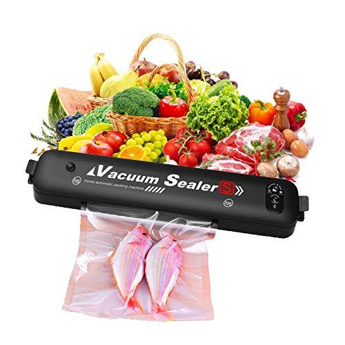 Sellador al vacío NUEVA máquina de sellado al vacío automática mejorada con un solo toque para la conservación de alimentos Bolsa de alimentos de 10 piezas