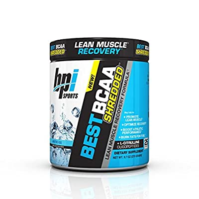 Bpi Sports Best BCAA Shredded Caffeine Free Thermogenic Recovery Formula for Lean Muscle Growth, Arctic Ice, 9.7 Ounce