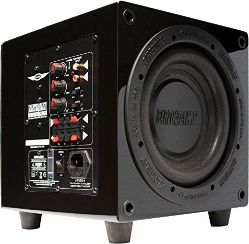 Earthquake Sound Minime-P8-V2 Subwoofer, 320 W, Klasse D Verstärker mit Frequenz bis zu 27 Hz, Schwarz