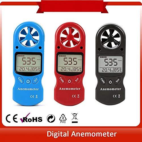 CPTDCLデジタル風速計風速/温度/湿度計測小型ポケットアネモメーター(ブラック)