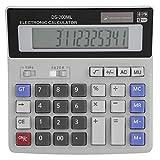 Fdit Calcolatrice Solare Calcolatrice Portatile da Tavolo con Grande LCD 12 cifre Calcolatrice Standard per Ufficio di Base