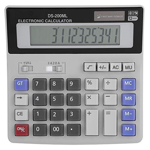 Calcolatrice solare Calcolatrice portatile da tavolo con grande LCD 12 cifre Calcolatrice standard per ufficio di base