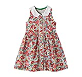 Girls Sleeveless Summer Dress A Line Swing Casual Clothes Vintage Floral Print Party Sundress 6T