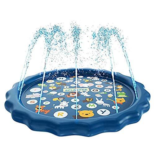 Sprinklerbad Voor Kinderen, Splash Pad Waadbad Leren 68 in De Zomer Buiten Waterspeelgoed Waadbad Splash Water Speelmat Voor 1-12 Jaar Kinderen Jongens Meisjes