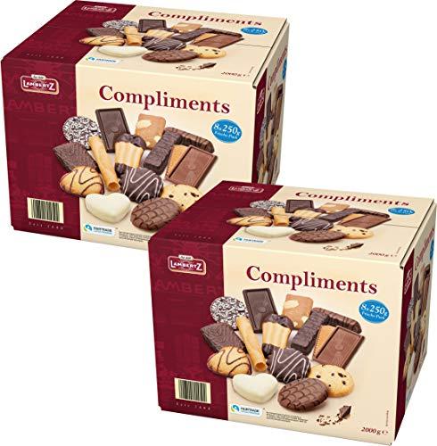 Lambertz Compliments 16x250gr Gebäckmischung 2 x 2kg Office Box