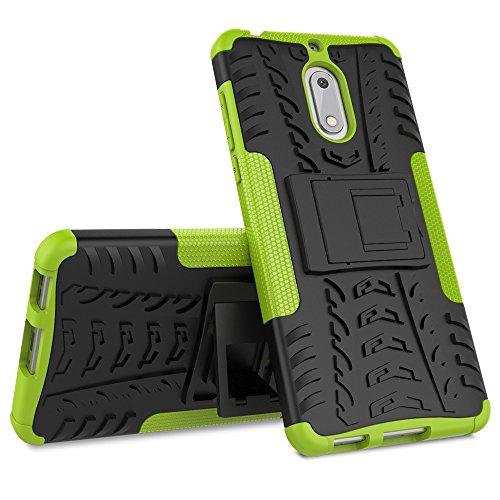 Nokia 6 Custodia Cover Case, FoneExpert® Resistente alle cadute Armatura dell'impatto Robusta Custodia Kickstand Shockproof Protective Case Cover Per Nokia...