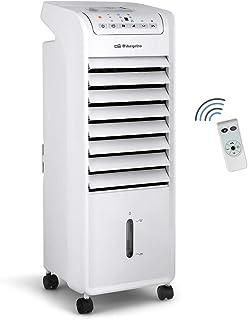 Orbegozo AIR 46 Climatizador evaporativo 3 en 1, 3 velocidades, temporizador, acumuladores de frío, depósito de 6 l, mando a distancia, silencioso, 55 W