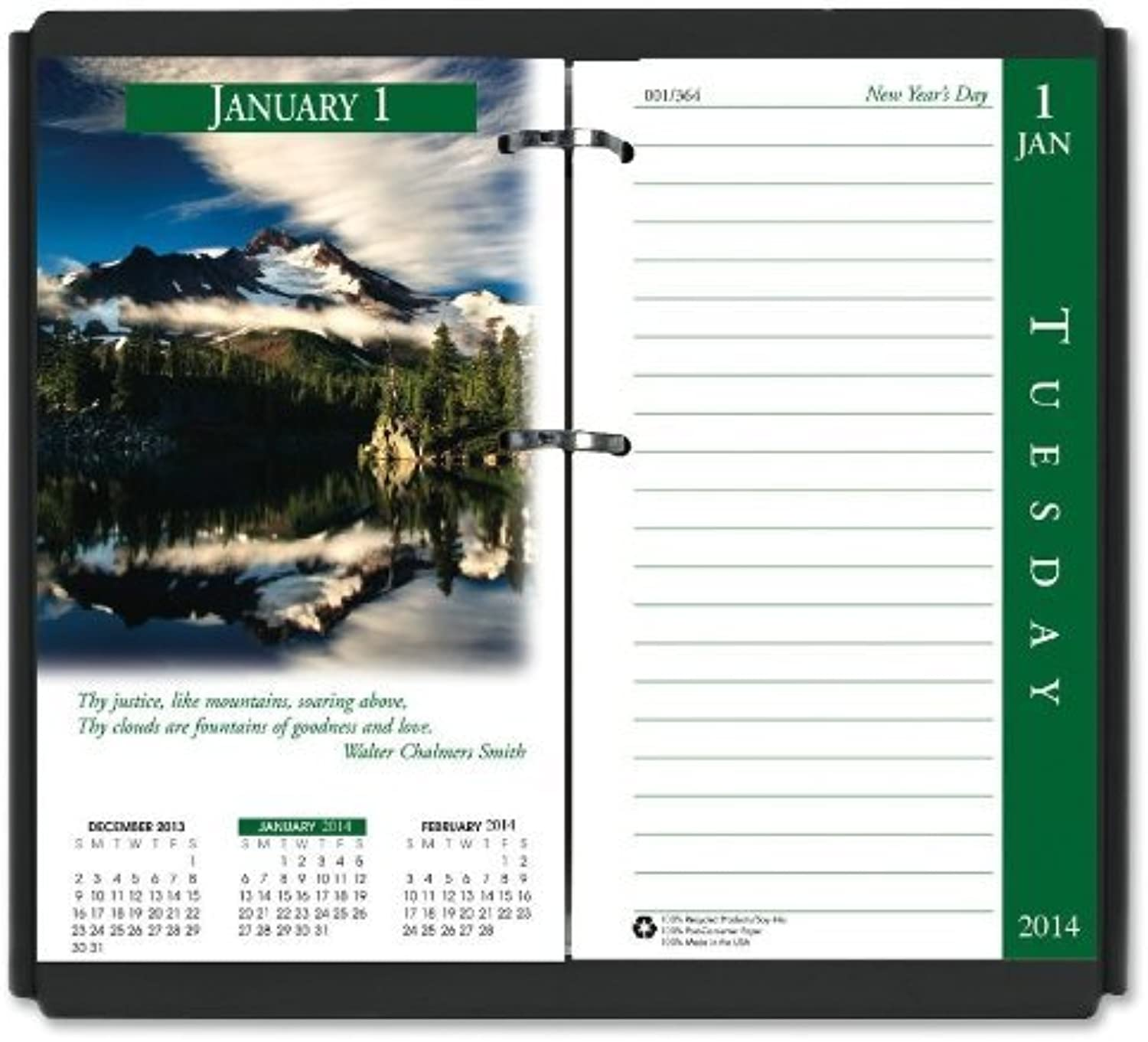 House of Doolittle Earthscapes Desk Calendar Refill 12 Months, January 2014 to December 2014, 3.5 x 6 Inches, Fits Standard  17 Base, Recycled (HOD417) by House of Doolittle B0141N5LG4 | Offizielle