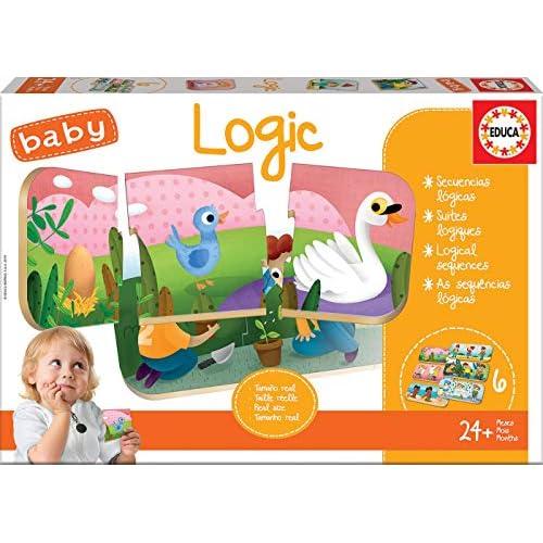 Educa - Baby Logic. Gioco Educativo per Bambini. Impara a collocare gli avvenimenti in ordine logico. +24 Mesi. Rif. 18120