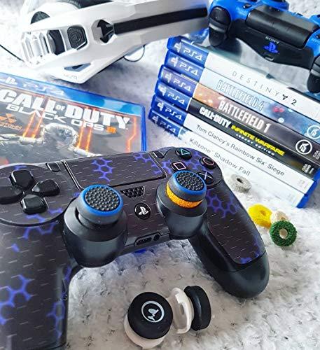 GAIMX CURBX Probierset in 6 Stärken – Premium Stoßdämpfer für Thumbstick – Zielhilfe für PS4, PS5, Xbox und Google Stadia – Analogstick für FPS & 3rd Person Shooter - 4