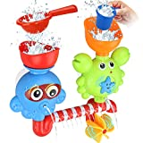 GOODLOGO Bath Toys Bathtub Toys for 2 3 4 Year Old Kids Toddlers Bath Wall Toy Waterfall Fill Spin...