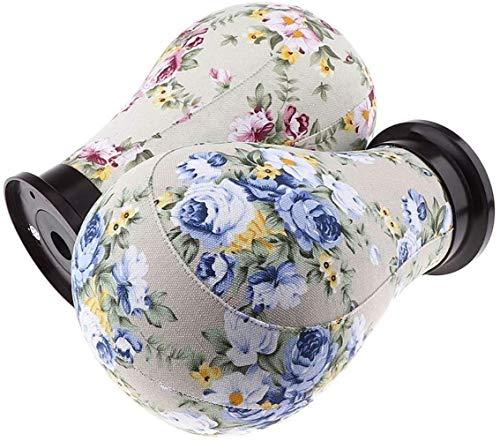 Mannequins de couture reglable 2pcs / Paquet Toile Bloc Modèle de tête Perruque Mannequin Présentoir + Mont Trou Porte vêtement Mannequin