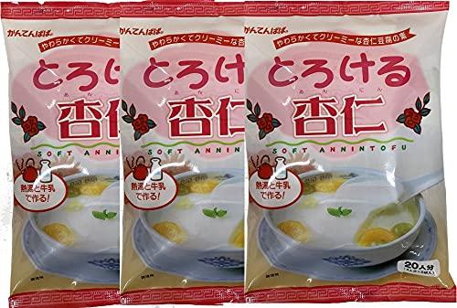 かんてんぱぱ とろける杏仁(杏仁豆腐の素60gX5)3個 セット シロップはついていません