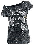 HARRY POTTER Dobby Is A Free Elf Mujer Camiseta Negro L, 100% algodón, Vintage Regular