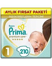 Prima Bebek Bezi Premium Care 1 Beden Yenidoğan Ekonomi Paketi