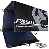 Foxelli Dual USB solar panels for backpacking