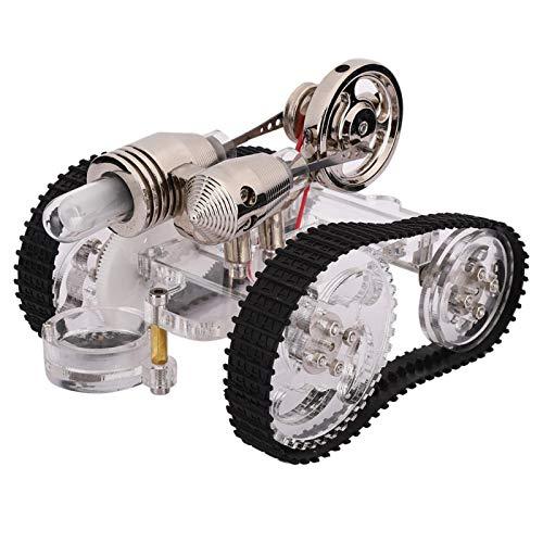 Modelo de motor Stirling, Kits de motor de potencia de vapor modelo de motor tanque Stirling Herramienta de enseñanza de laboratorio Juguetes de educación científica para niños, No requiere ensamblaje