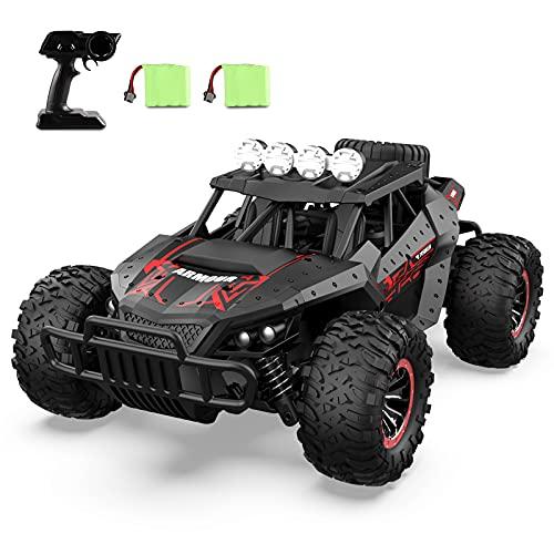 Tech rc1: 16 Coche de Control Remoto, Camión de Coche Teledirigido Todoterreno RC de 2,4 GHz, con 2 Baterías Recargables, 25+ Minutos de Juego, Buen Regalo para Niños