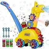 POLARDOR Push Bubble Machine for Kids, Bubble Lawn Mower...