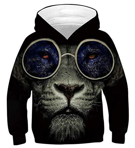 Fanient 3D Alpaka Muster Zeichnung Pullover Hoodies Lässige Kapuzenpullis Langarm Bunte Tops