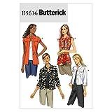 BUTTERICK B5354 - Patrón de Costura para Confeccionar Chaqueta y Chaleco...