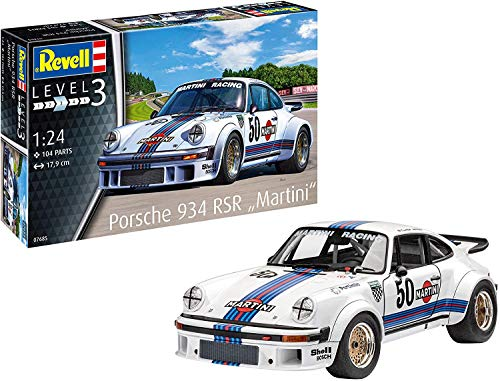Revell 7685 1:24 Porsche 934 RSR 'Martini Racing' Plastic Model Kit GmbH 07685, Mehrfarbig, 1/24