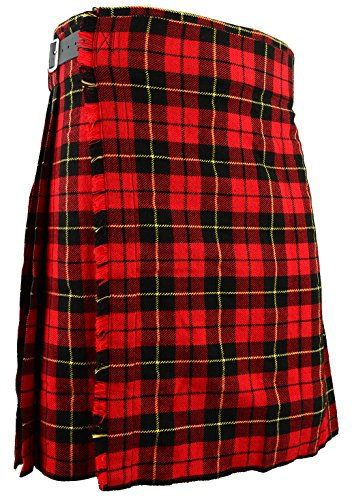 Falda Escocesa Vestido Tierras Altas Tradicional Hombres Kilt - Wallace, W38