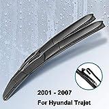 DKINCM Balais d'essuie-Glace Avant pour essuie-Glace Avant, pour Hyundai Trajet 2001 2002 2003 2004 2005 2006 2007