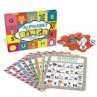 アルファベットビンゴゲームカードボードマッチングゲームセット ABC文字 動物認識学習 ビンゴペーパーゲーム用品 子供 未就学児 教室 幼稚園 グループゲーム