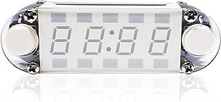 置き時計 目覚まし時計 アラームライト4桁のデジタル時計DIYキットLED混合カラーNixieチューブテーブルデスクUSB駆動クロックカウントダウンタイマーストップウォッチ