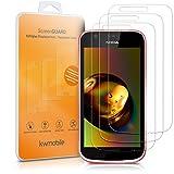 kwmobile 2X Protector de Pantalla Compatible con Nokia 1 - Kit de Cristal Templado Transparente - Vidrio para móvil