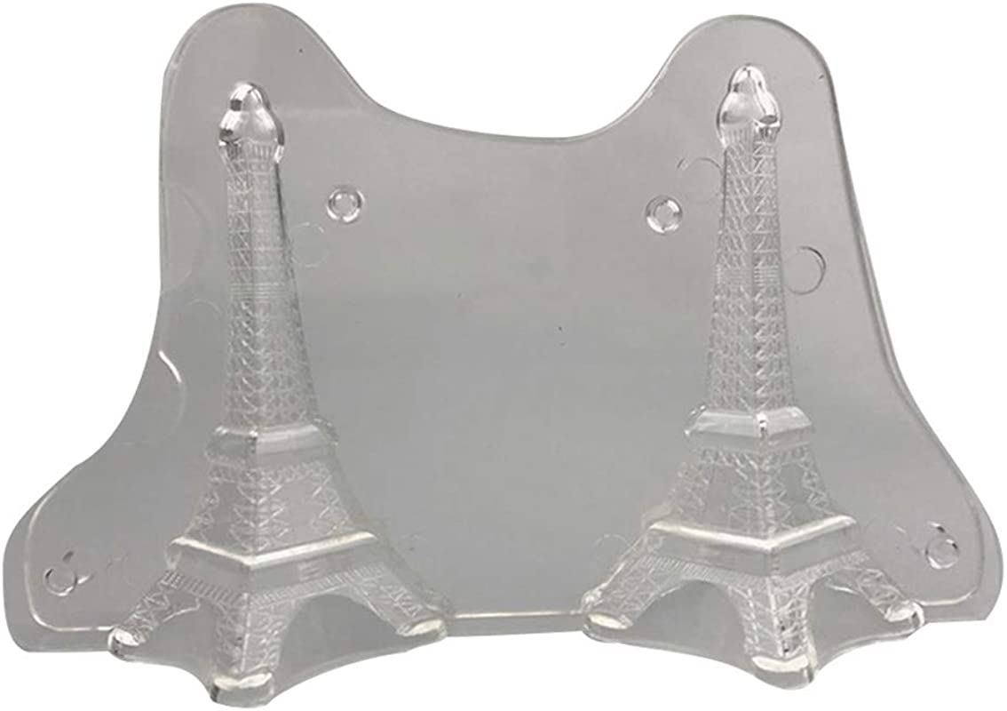 IETONE 3D The Eiffel Tower Clear Polycarbonate Mold Jelly Making Mold DIY Chocolate Moulds Candy Mold Chocolate Melting With 3 Clips