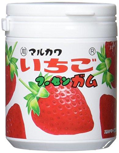 丸川製菓 いちごマーブルガムボトル 130g×6個